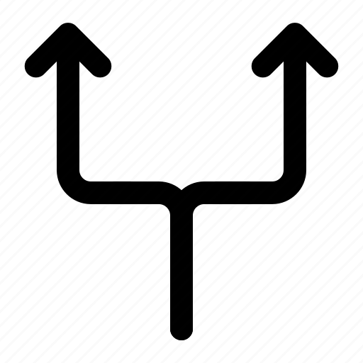 arrow, direction, location, two, way icon