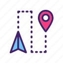 arrow, direction, location, map, navigation, pin, pointer