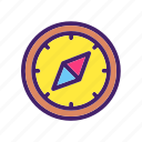 arrow, compass, location, map, navigation, north, pointer