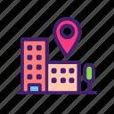 building, construction, location, map, navigation, pin, place