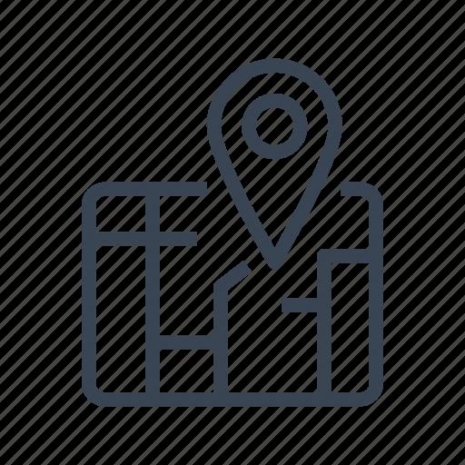 city, location, map, marker, pin, street icon
