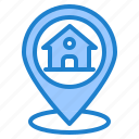 home, house, location, navigation, pin icon