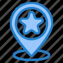 favorite, location, navigation, pin, star