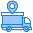 delivery, location, transport, truck, vehicle icon