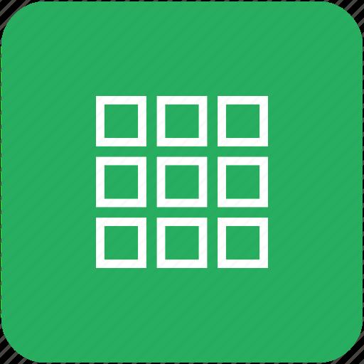 app, choice, green, grid, menu, tile icon