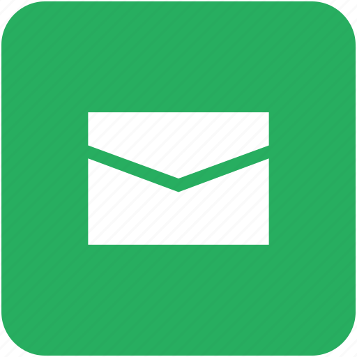 app, green, info, letter, message, news icon