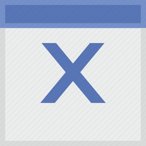 calendar, key, latin, letter, x icon