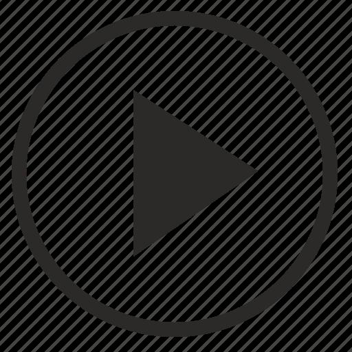 arrow, circle, forward, next, right, round icon