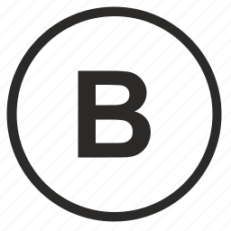 b, bold, format, letter, round, text, weight icon