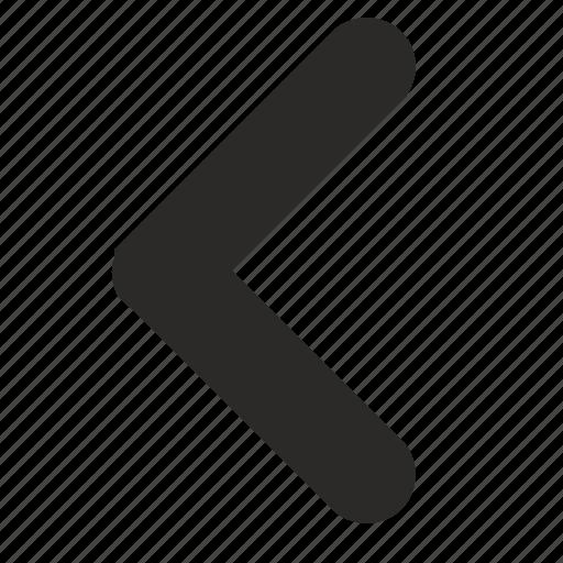 action, back, element, left, navigation, past, previous icon
