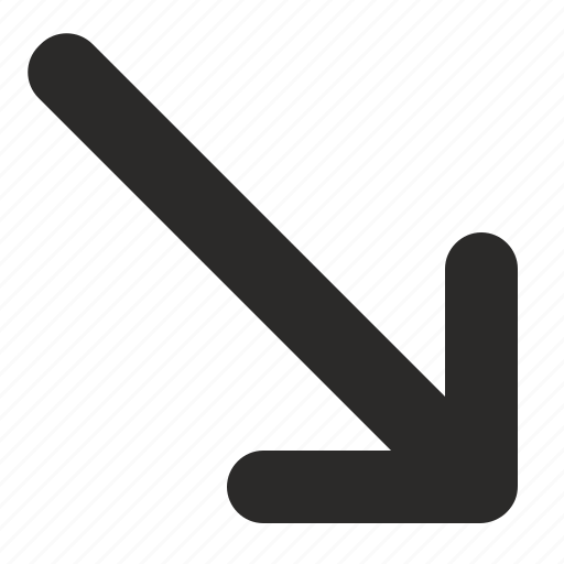 action, arrow, bottom, position, right icon