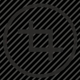 crop, cut, erase, instrument, photo, picture, piece icon