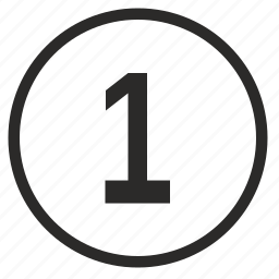 first, number, one, place, round, ui icon