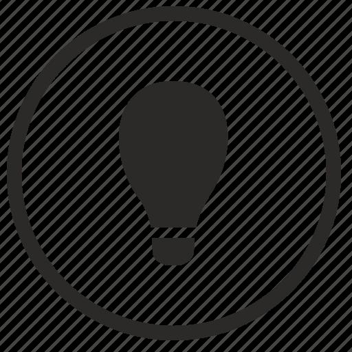 circle, flash, idea, lamp, light, lighting, round icon
