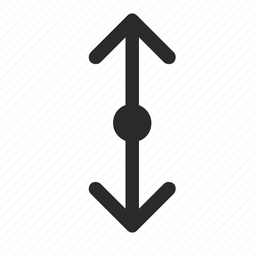 arrow, down, move, navigation, roll, up, vertical icon