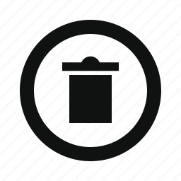 basket, clear, delete, garbage, recycle, remove, rounded, trash icon