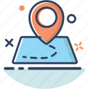 direction, gps, location, map, map icon, navigation, pin icon