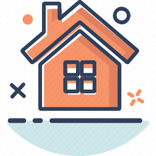 building, home, home icon, house, line filled, navigation, property icon