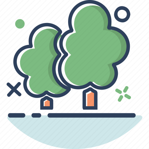 forest, jungle, location, navigation, plant, tree, tree icon icon