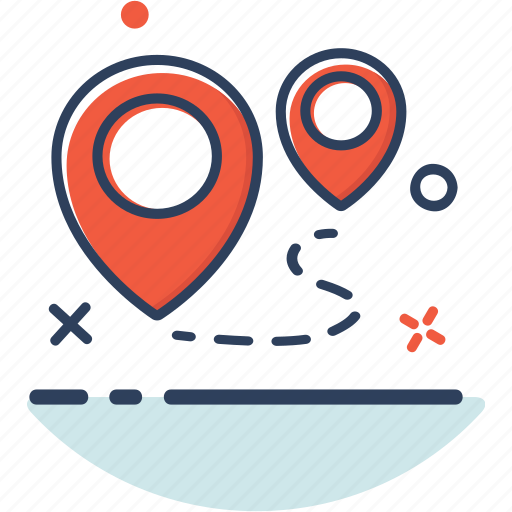 direction, gps, line filled, location, map, navigation, pin icon