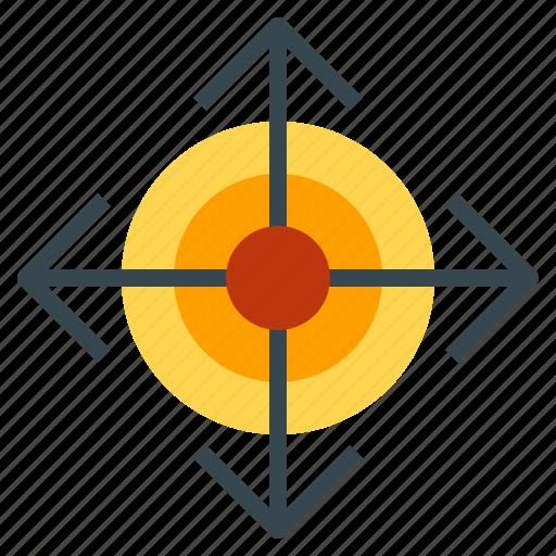 arrow, direction, guide, location, move icon