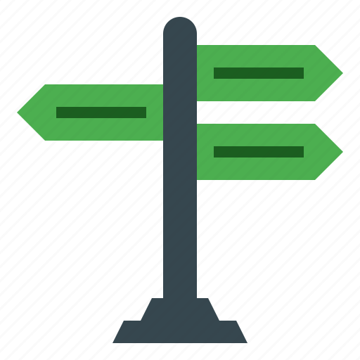 direction, guide, guidepost, navigation, signpost icon