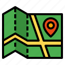 location, map, navigation, pointer icon