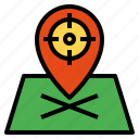 marker, placeholder, pointer, position, target icon