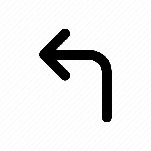 arrow, direction, left, location, navigation, outline icon