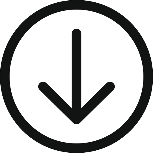 arrow, arrow circle, arrow down, arrowdowncircle, bottom, down icon icon