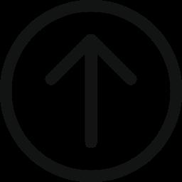 arrow, arrow circle, arrow up, arrowupcircle, top, up icon icon
