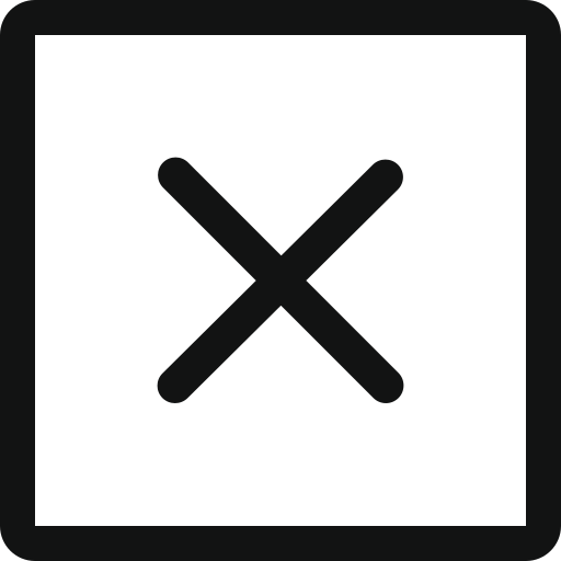 cancel, close, closecancelsquare, cross, delete, remove, square icon