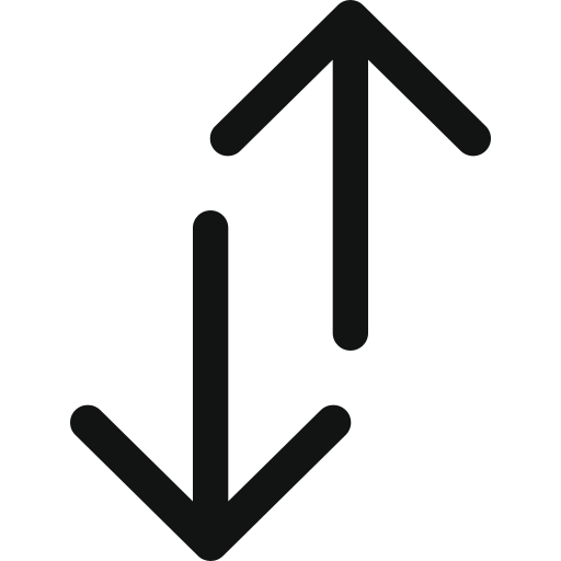 arrow, arrows, double, double arrow, doublearrowupdown, top bottom, up down icon