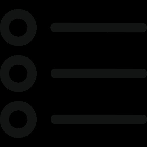 bullet, details, list icon