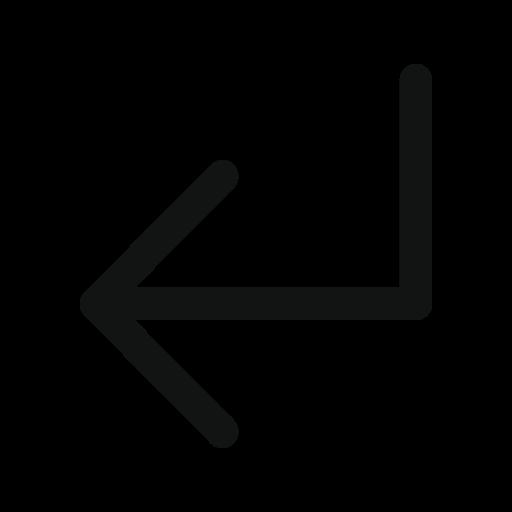 arrow, left, subdirectory, subdirectory arrow, subdirectoryarrowdownleft icon