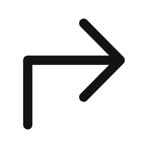 arrow, right, subdirectory, subdirectory arrow, subdirectoryarrowupright icon