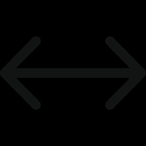 arrow, arrows, left, right, unitedarrowleftright icon
