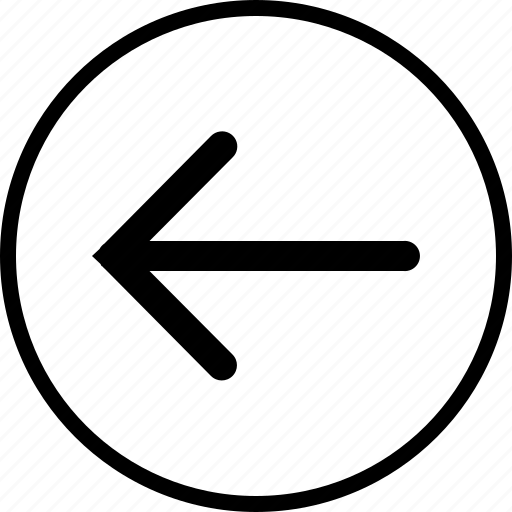 arrow, cursor, dart, direction, left, missile icon