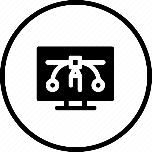 computer, design, edit, pc, pen, tool icon