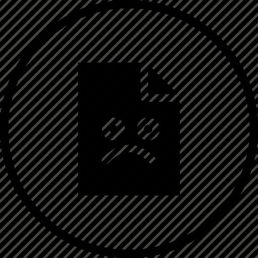 bad, emoji, emotion, file, sad, situation icon