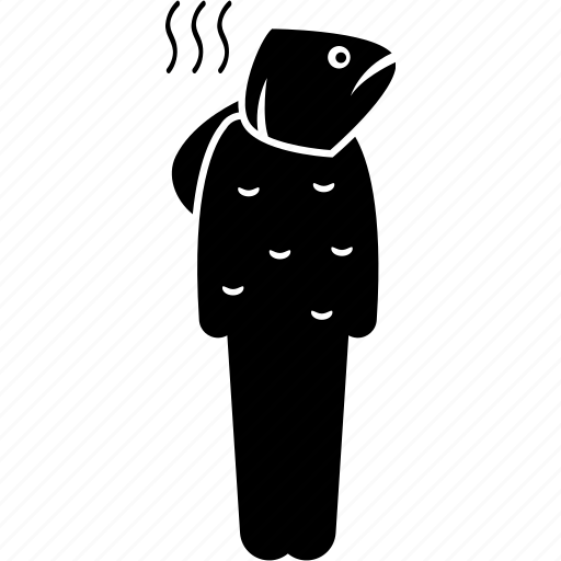 fish, fishy, head, man, person icon