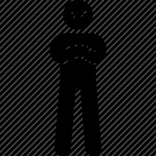 fierce, person icon