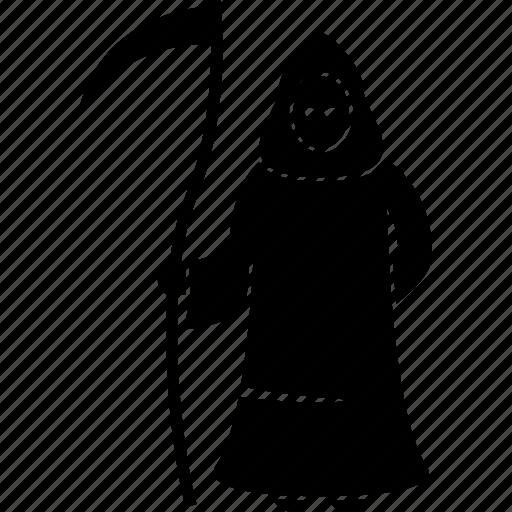 death, grim, hell, scythe icon