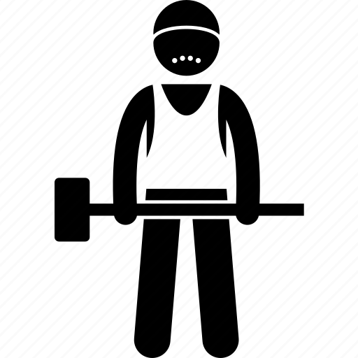 hammer, man, person, rugged, strong, worker icon