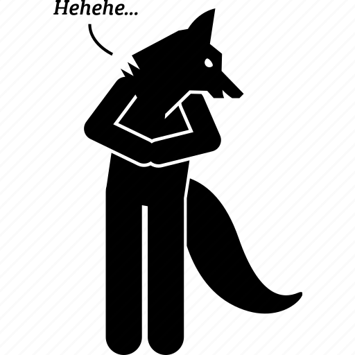 character, cunning, fox, foxy, person, sly icon