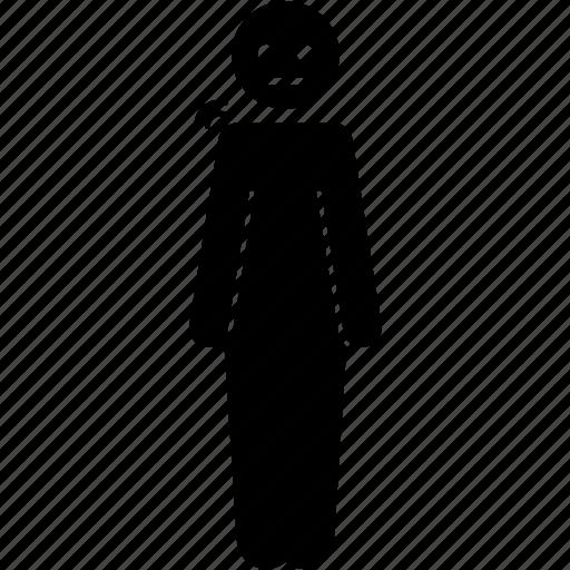 body, person, stiff icon