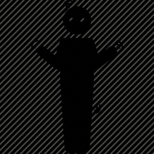 body, man, person, stiff, strained, tense, tension icon