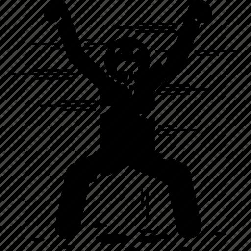 man, person, scary, terrifying icon