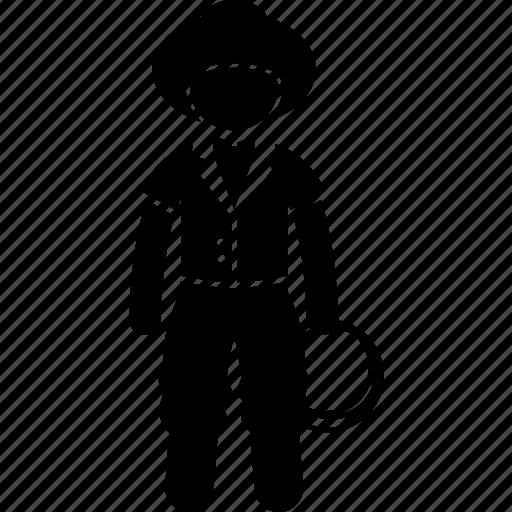 bronco, buckaroo, cowboy, rancher, traditional, wrangler icon