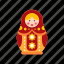 babushka, doll, nesting, russia, russian, toy, woman